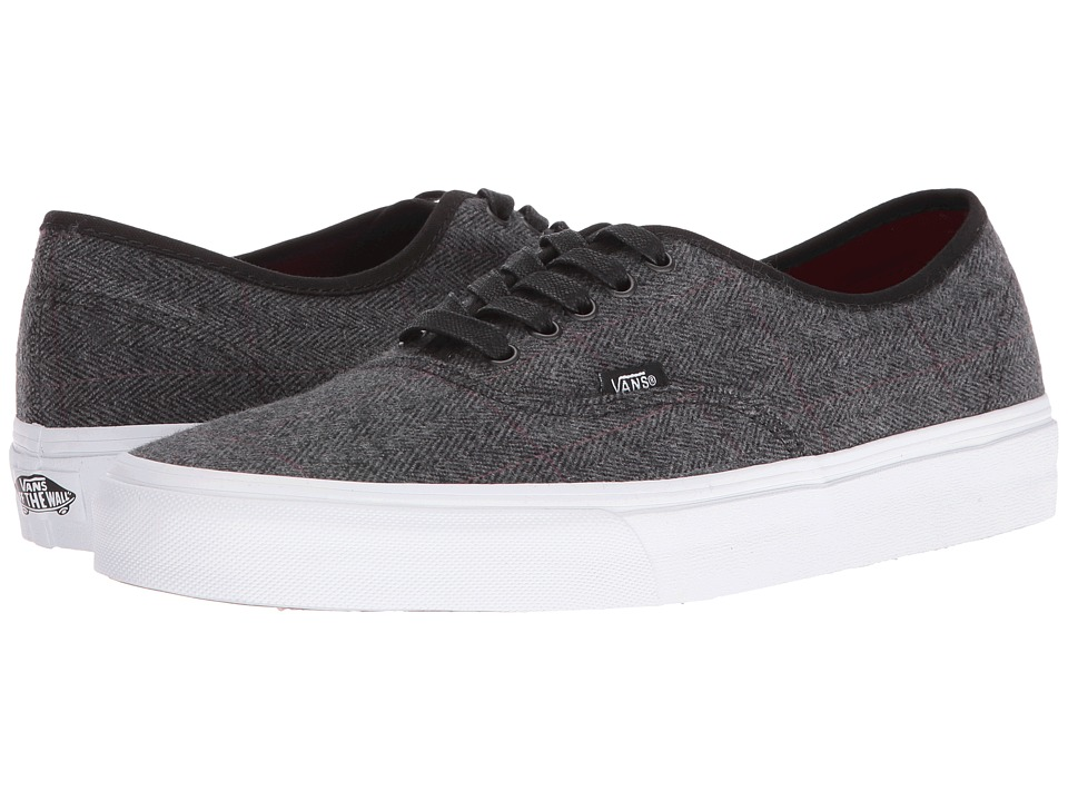 Vans Authentic ((Tweed) Black/True White) Skate Shoes