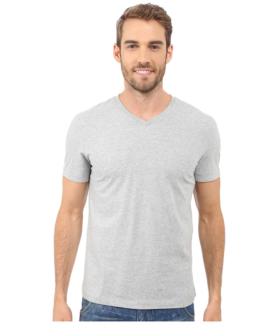 Mod-o-doc - Del Mar Short Sleeve V-Neck Tee (Grey Heather) Mens T Shirt