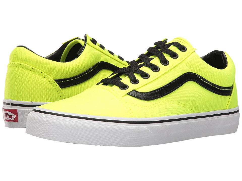 Vans Old Skool ((Brite) Neon Yellow/Black) Skate Shoes