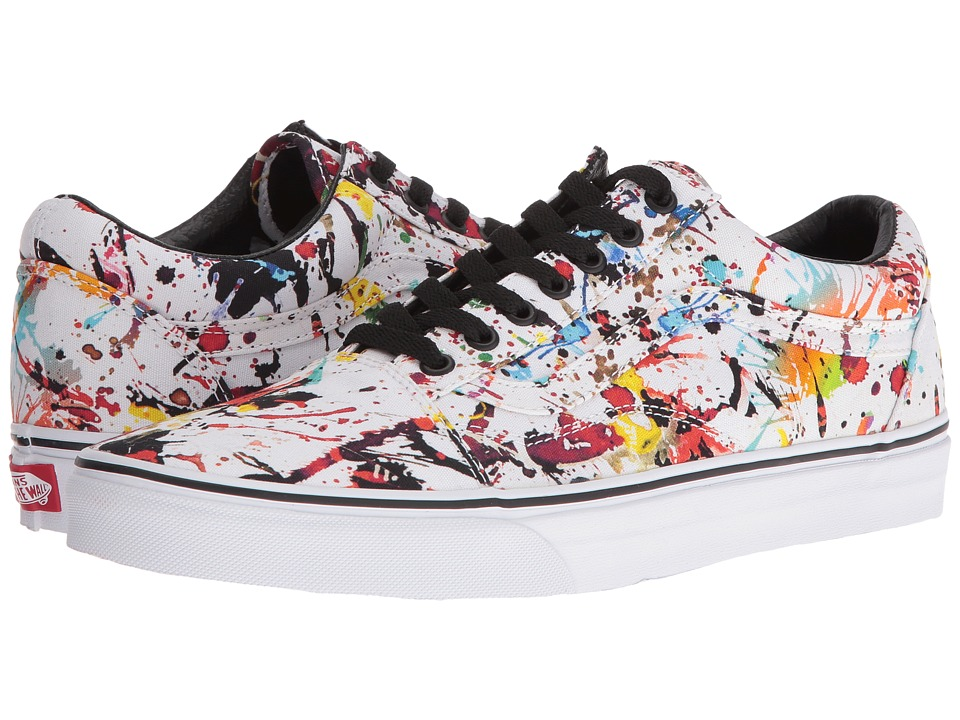 Vans Old Skool ((Paint Splatter) Multi/True White) Skate Shoes
