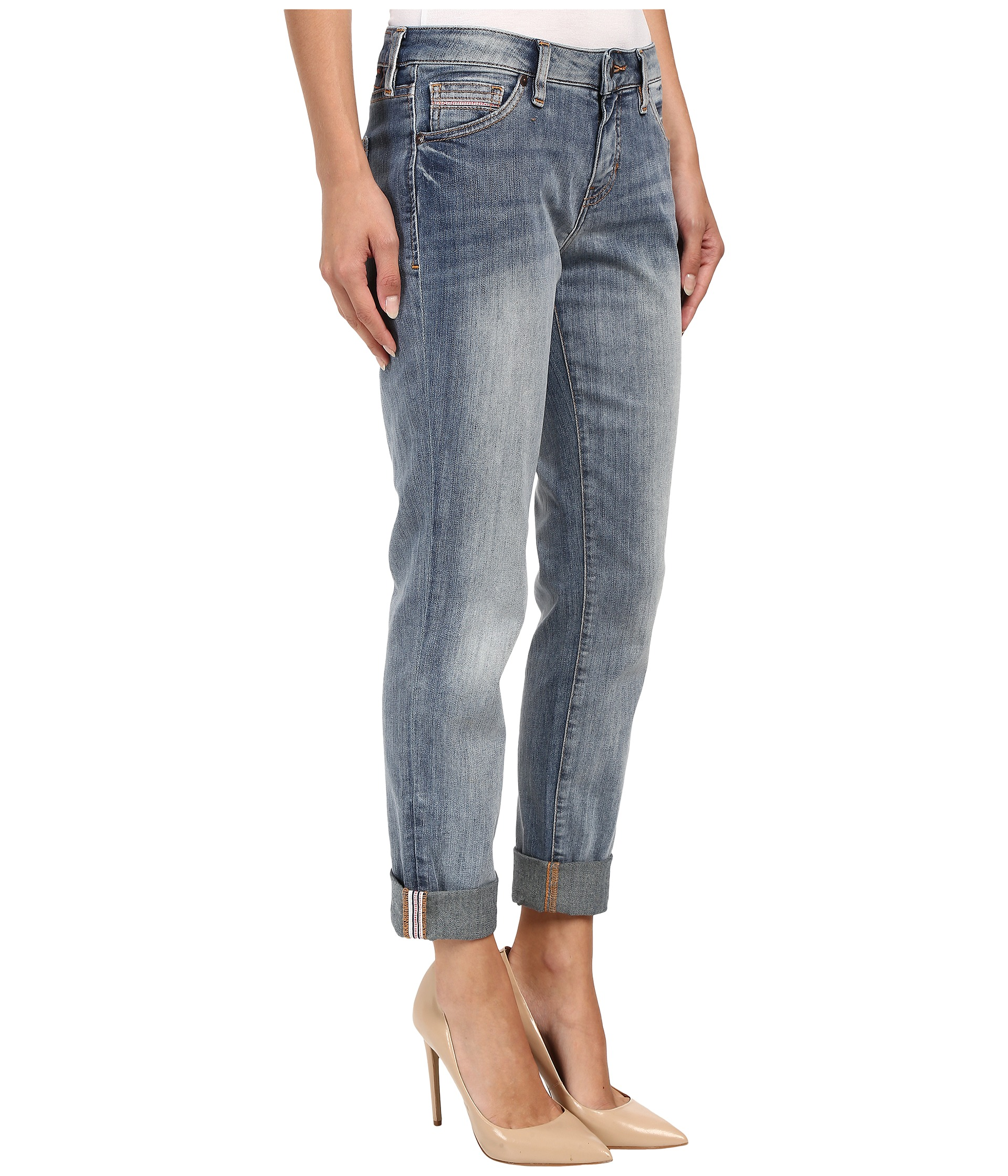 Jag Jeans Alex Boyfriend Platinum Denim in Saginaw Blue at Zappos.com
