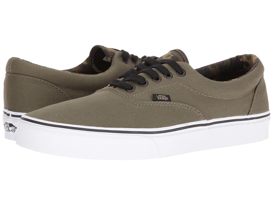Vans Era ((Vintage Camo) Ivy Green/Black) Skate Shoes