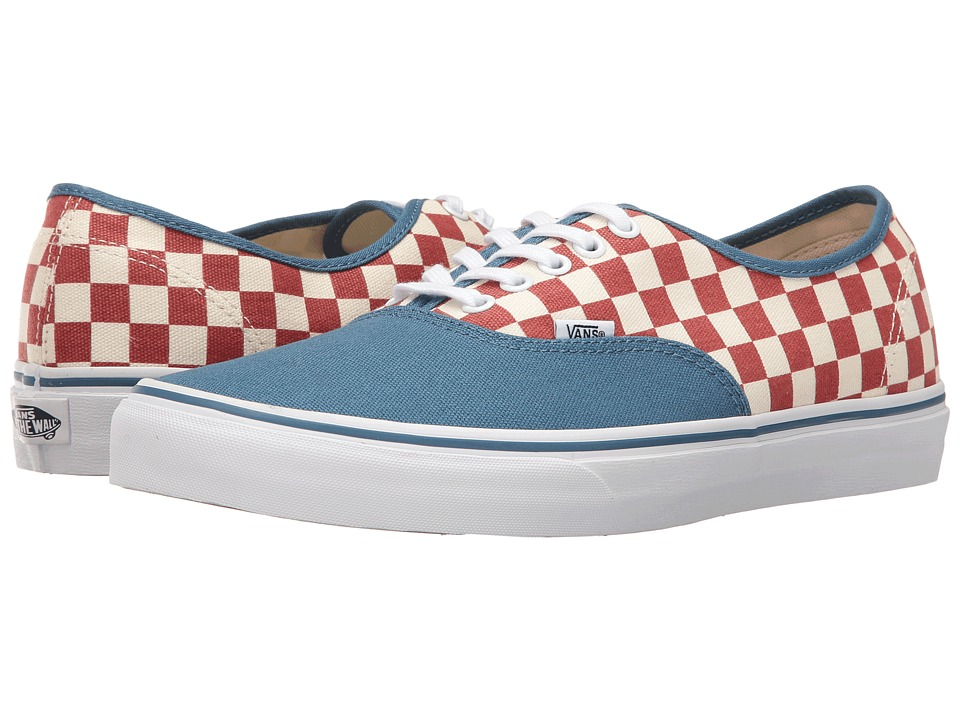 Vans Authentic ((50th) Checkerboard/Blue Ashes) Skate Shoes