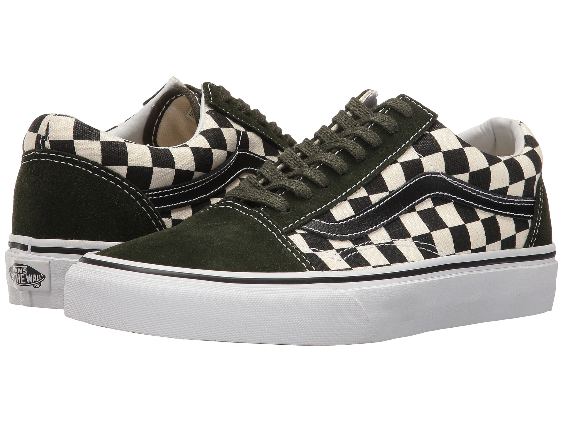 vans old skool 50th checkerboard black rosin zappos. Black Bedroom Furniture Sets. Home Design Ideas