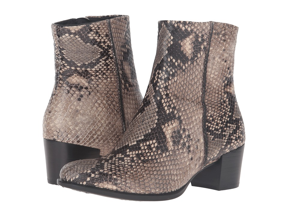 ECCO Shape 35 Snake Print Ankle Boot (Sand) Women