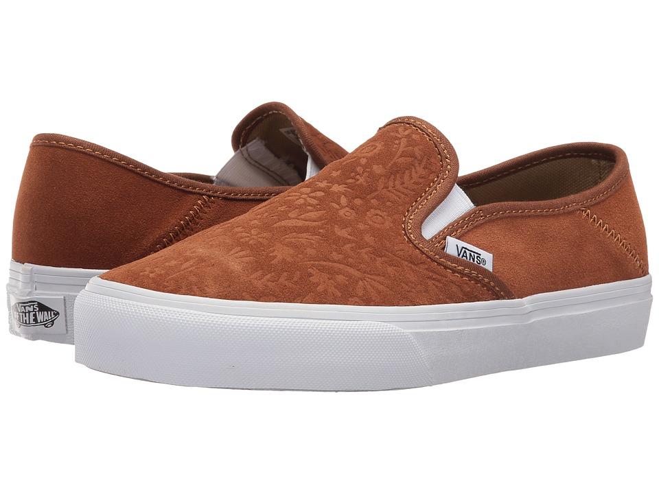 Vans - Slip-On SF ((Suede) Monks Robe/Flora) Womens Skate Shoes