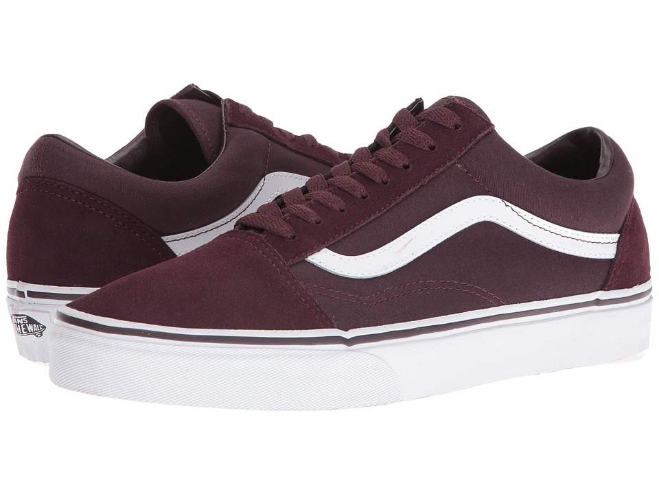 Vans Old Skool ((Suede/Canvas) Iron Brown/True White) Skate Shoes