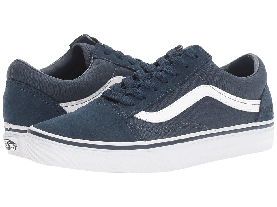 Vans Old Skool ((Suede) Teal/True White) Skate Shoes
