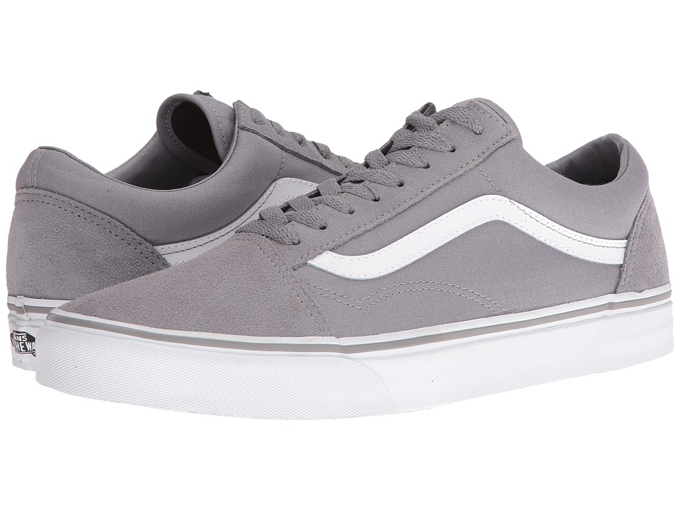 Vans Old Skool ((Suede/Canvas) Frost Gray/True White) Skate Shoes