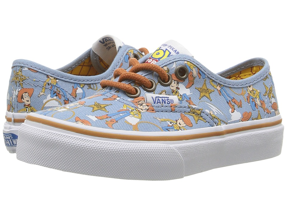 Vans Kids - Authentic Toy Story (Little Kid/Big Kid) ((Toy Story) Woody/True White) Boys Shoes
