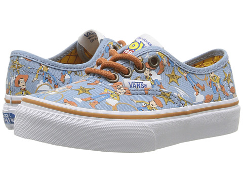 Vans Kids Authentic Toy Story (Little Kid/Big Kid) - (Toy Story) Woody/True White