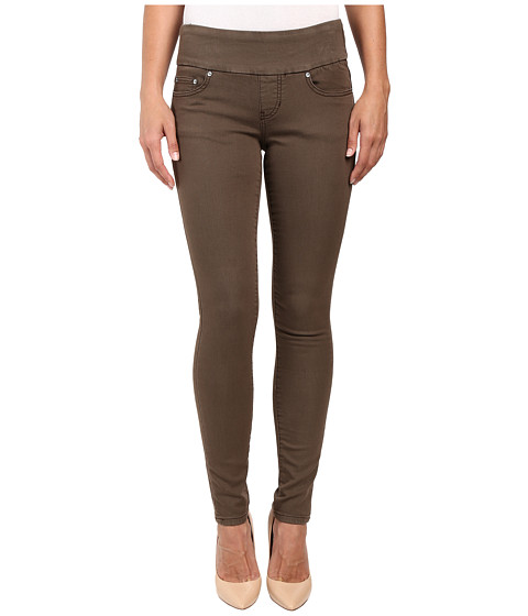 Jag Jeans Nora Pull-On Skinny Freedom Colored Knit Denim in Saddle