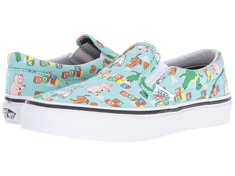 Vans Kids Classic Slip-On Toy Story (Little Kid/Big Kid) - (Toy Story) Andys Toys/Blue Tint