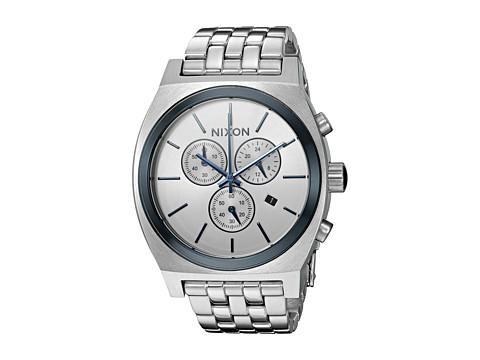 Nixon Time Teller Chrono X White Silver Collection