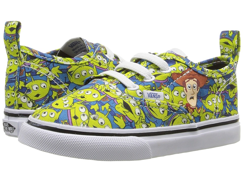 Vans Kids - Authentic V Lace (Toddler) ((Toy Story) Aliens/True White) Boys Shoes