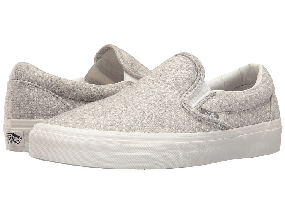 Vans Classic Slip-On (Blanc De Blanc/Polka Dots) Skate Shoes
