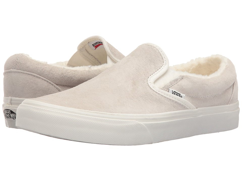 Vans Classic Slip-On ((Scotchgard) Blanc De Blanc/Blanc De Blanc) Skate Shoes