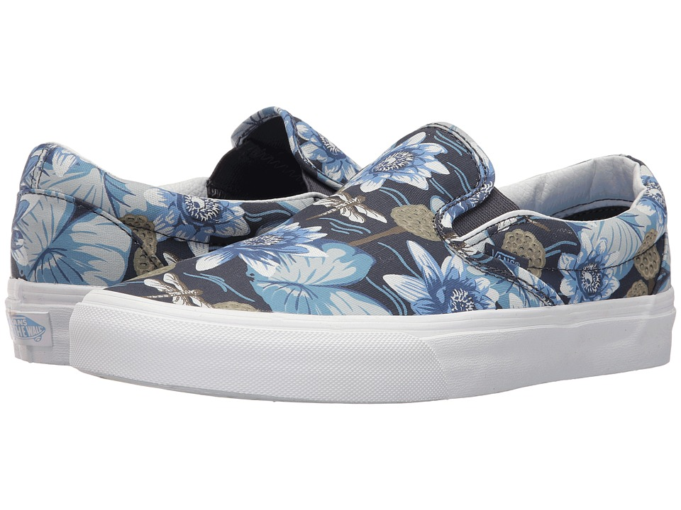Vans Classic Slip-On ((Dragon Floral) Parisian Night/True White) Skate Shoes