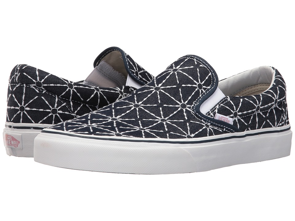 Vans Classic Slip-On ((Quilted Denim) Dress Blues/Zephyr) Skate Shoes