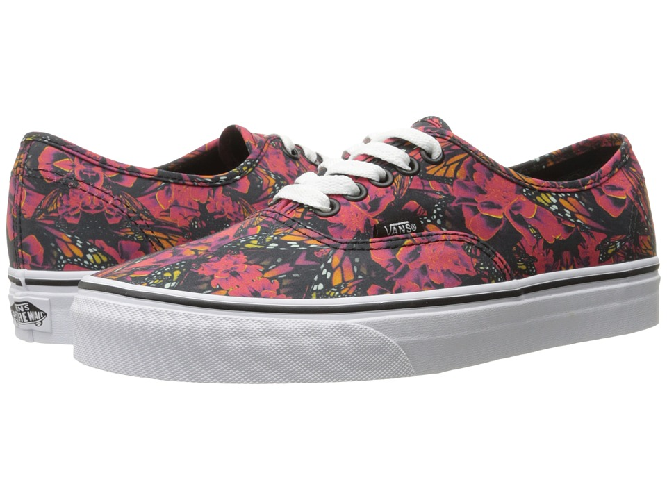 Vans Authentic ((Butterfly Dreams) Black/True White) Skate Shoes