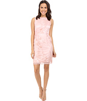 Tahari by ASL - Side Rouche Embroidered Lace Sheath Dress