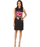 Tahari by ASL - Jacquard Sleeveless Sheath Dress w/ Floral Print