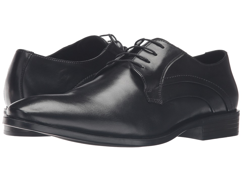 1960s Style Men's Clothing, 70s Men's Fashion Massimo Matteo - Plain Toe Classic Black Mens Lace up casual Shoes $69.99 AT vintagedancer.com