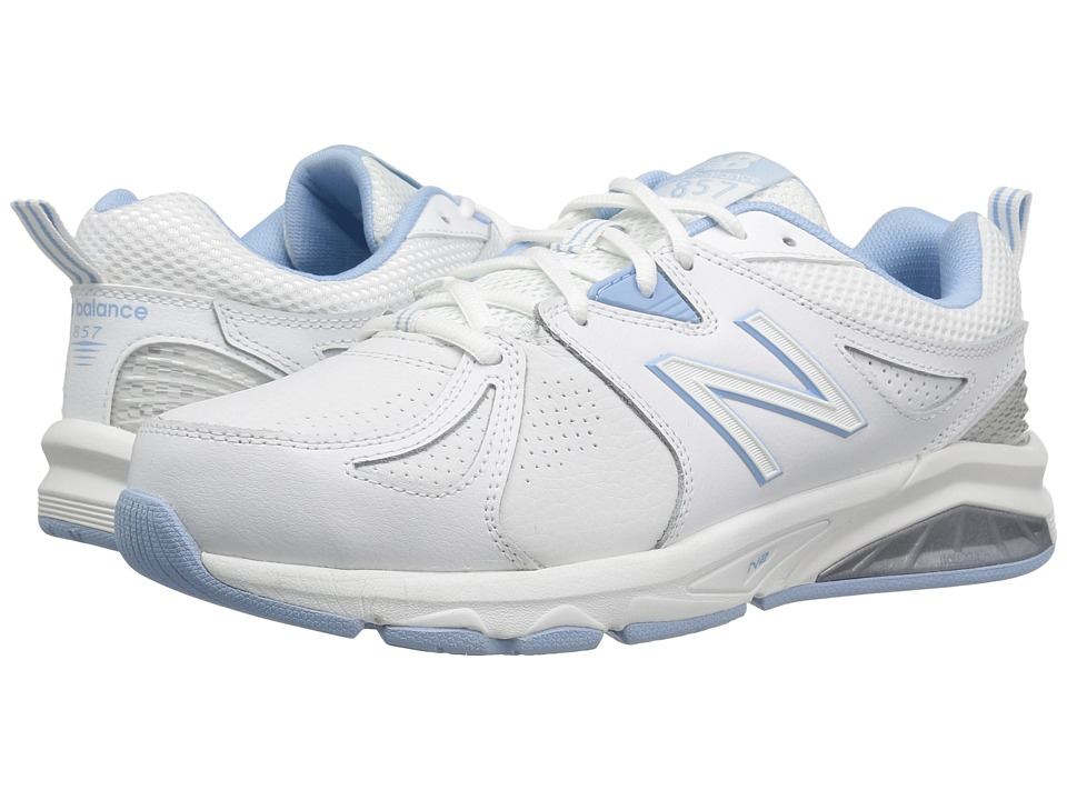 New Balance WX857v2 (White/Light Blue) Women's Cross Training Shoes