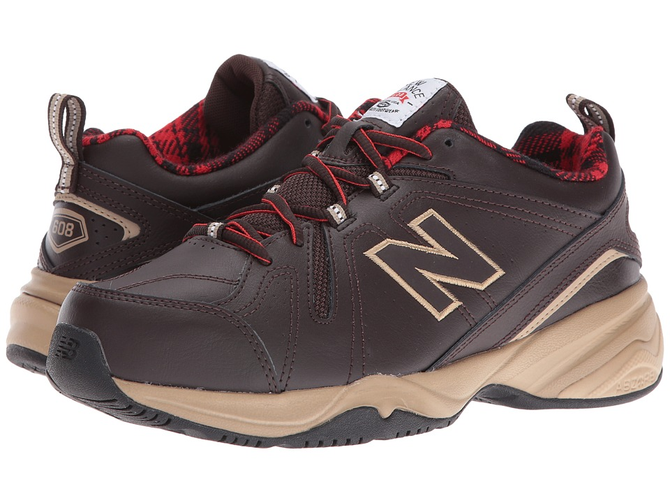 New Balance - MX608v4 (Brown/Red) Mens Walking Shoes
