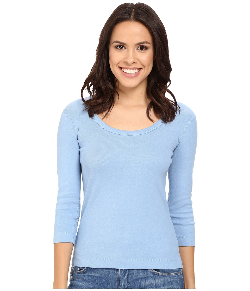 Three Dots - 3/4 Sleeve Scoop Neck (Vintage Wash) Women