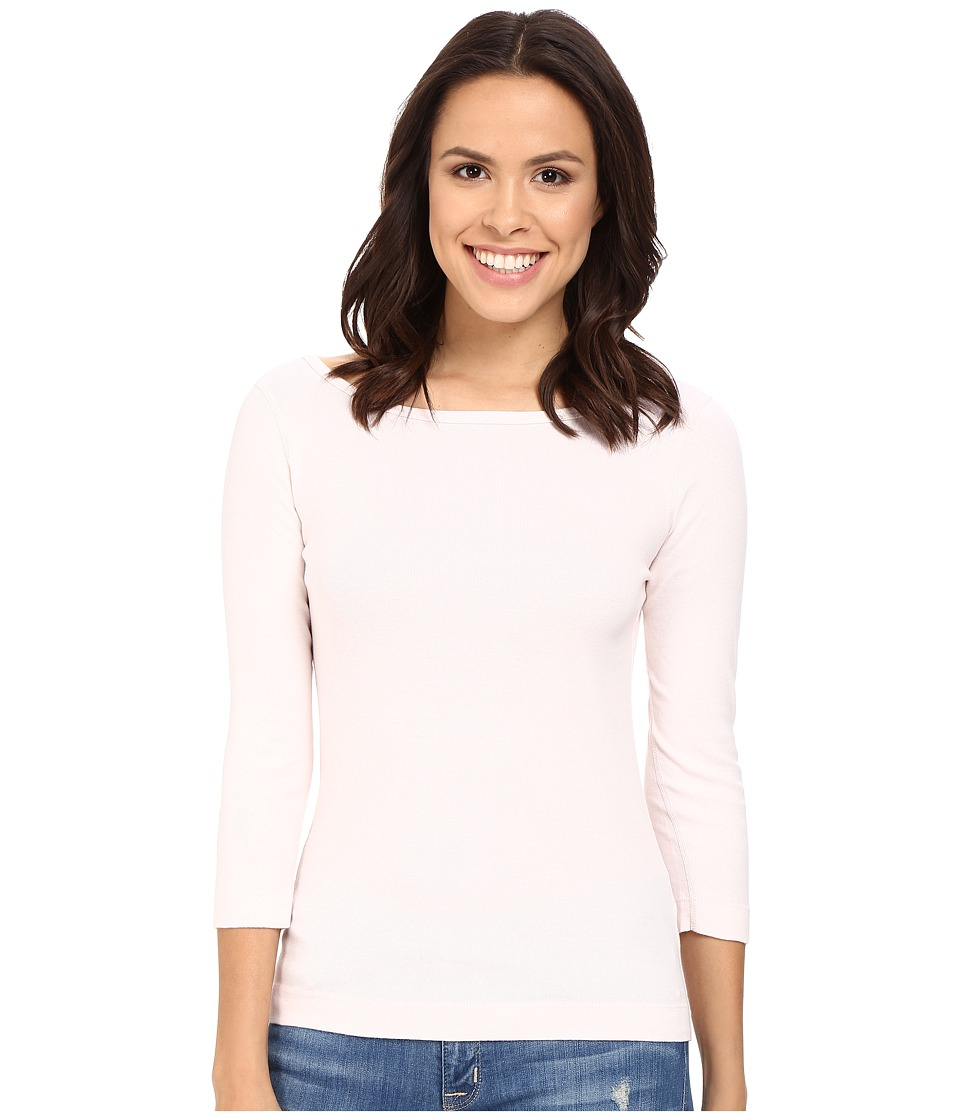 Three Dots - 3/4 Sleeve British Tee (Hint of Blush) Women