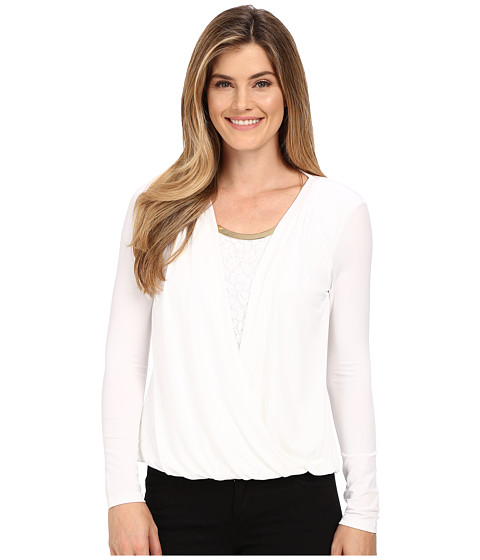 Calvin Klein Wrap Top with Lace