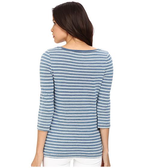 Three Dots Rosie 3 4 Sleeve British Indigo T Shirt At