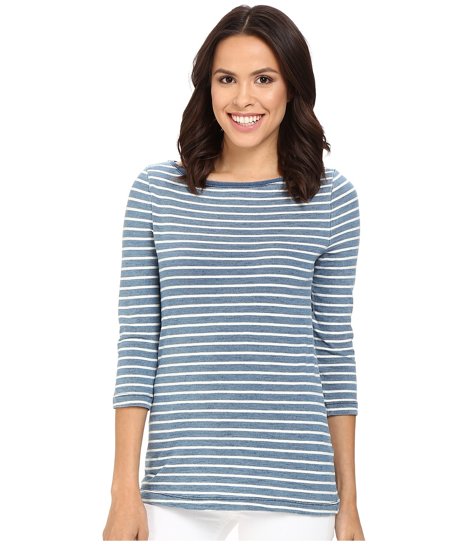 Three Dots - Rosie 3/4 Sleeve British Indigo T-Shirt (Vintage Wash) Women