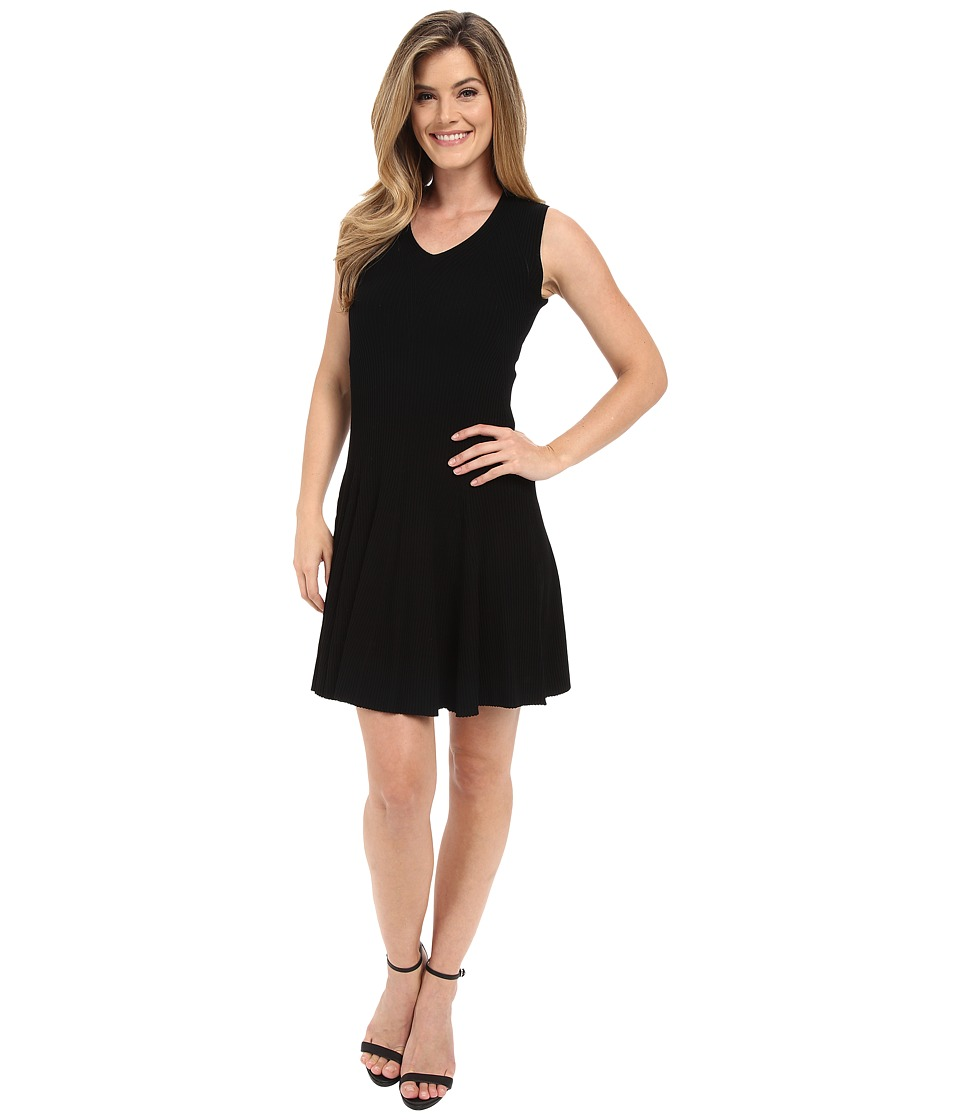 Calvin Klein Sweater Dress with Flare Black Womens Dress