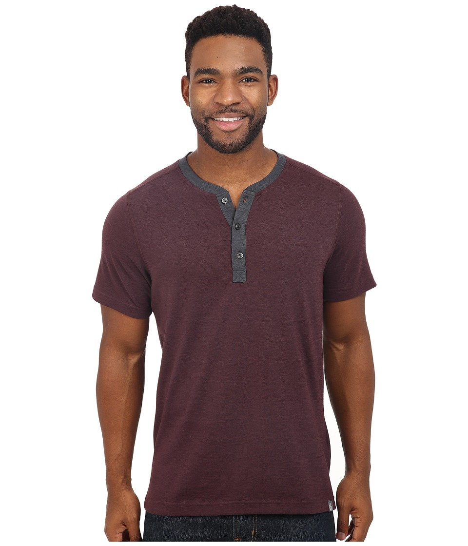 The North Face Short Sleeve Crag Henley (Root Brown Heather) Men