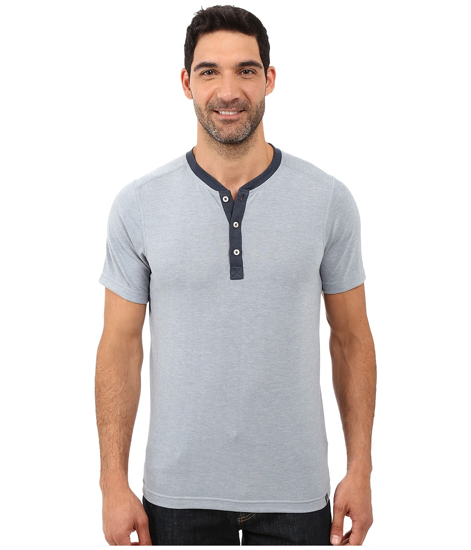 The North Face Short Sleeve Crag Henley (Worn Blue Heather) Men