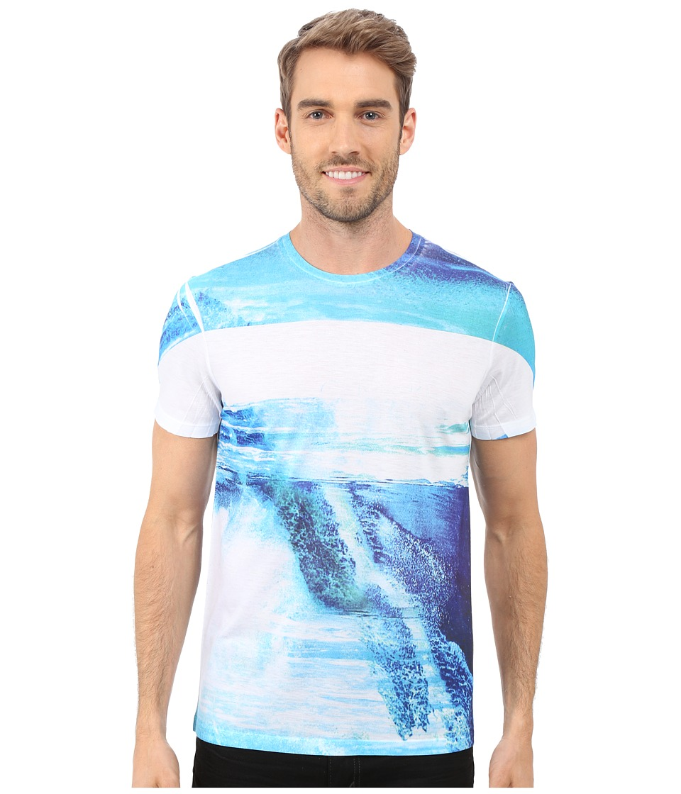 Calvin Klein - Short Sleeve All Over Sublimated Tee (White) Men