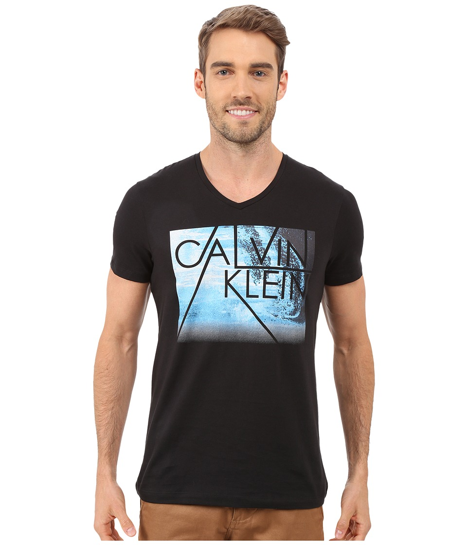 Calvin Klein - Short Sleeve Water Front Photo Tee (Black) Men