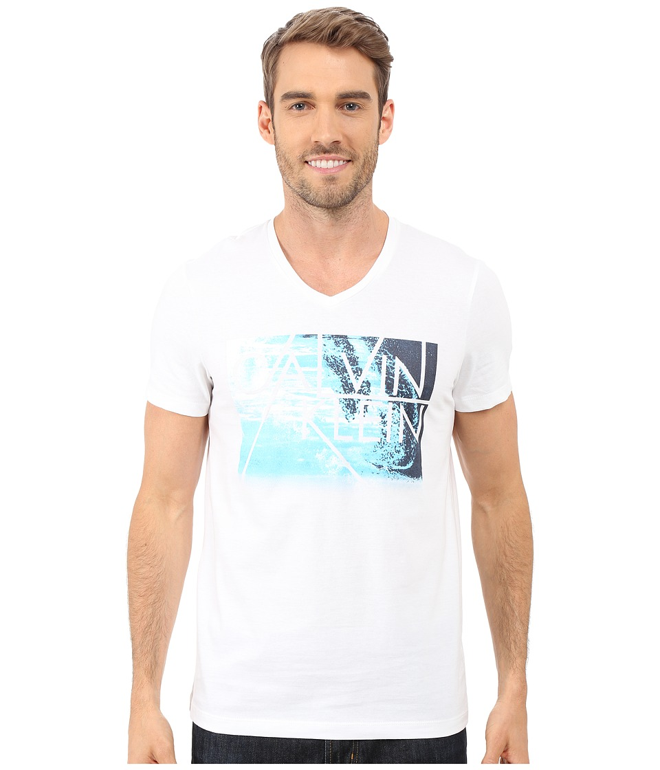 Calvin Klein - Short Sleeve Water Front Photo Tee (White) Men