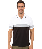 Calvin Klein - Liquid Cotton Short Sleeve Slub Blocked Polo