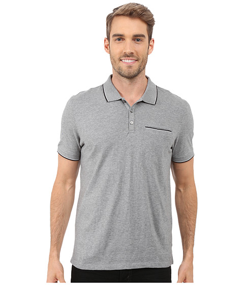 Calvin Klein Liquid Cotton Short Sleeve Slub Tipped Polo
