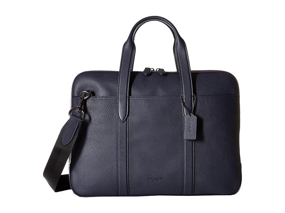 COACH - Metropolitan Soft Brief (QB/Midnight Navy/Black) Briefcase Bags