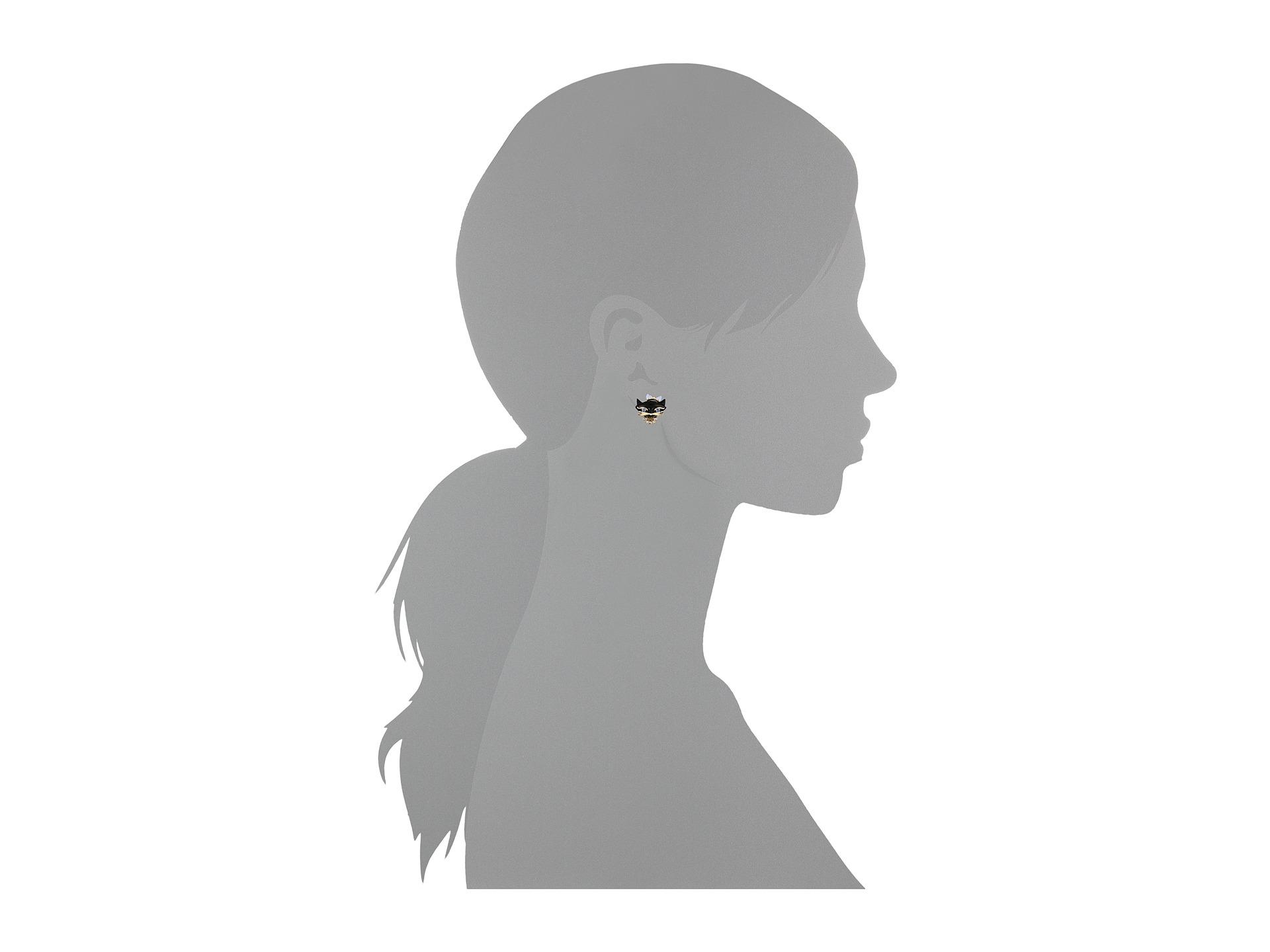 Kate Spade New York Height Jazz Things Up Cat Studs Earrings