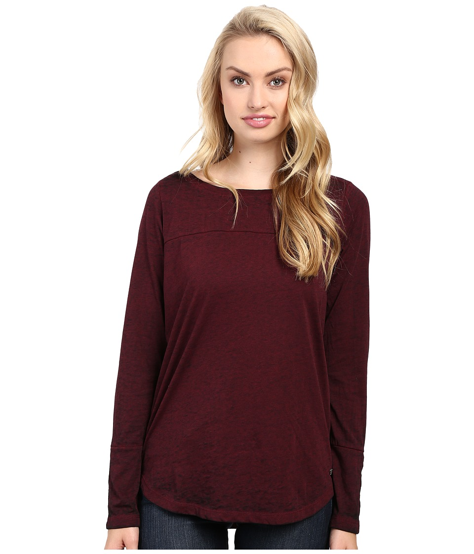 Jag Jeans - Meghan Tee Classic Fit Shirt Burnout Jersey (Berry) Women