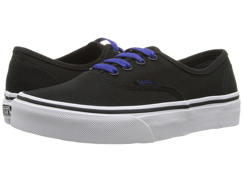Vans Kids - Authentic (Little Kid/Big Kid) ((Pop) Black/Sodalite Blue) Boys Shoes