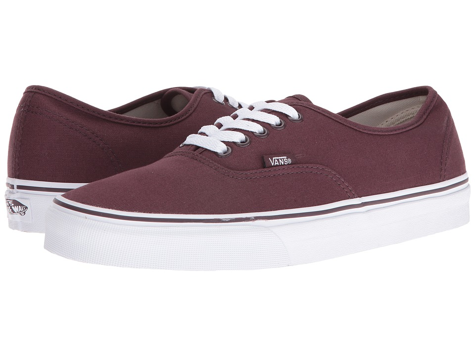 Vans Authentic (Iron Brown/True White) Skate Shoes