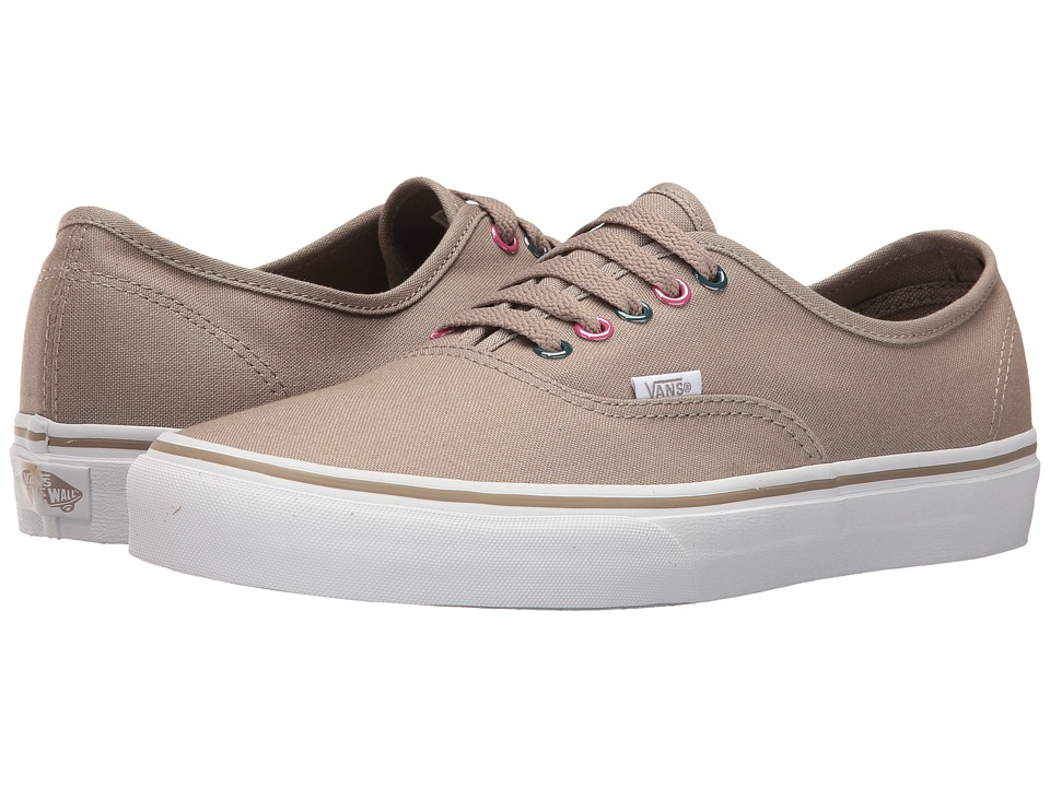 Vans Authentic ((Multi Metallic) Desert Taupe/True White) Skate Shoes