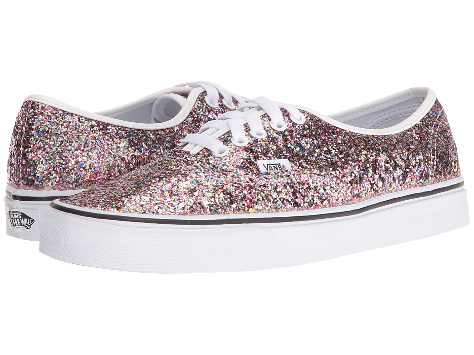 Vans Authentic ((Chunky Glitter) True White) Skate Shoes