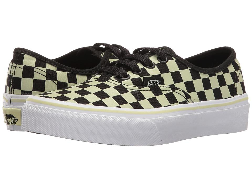 Vans Kids - Authentic (Little Kid/Big Kid) ((Glow Check) Black/True White) Boys Shoes